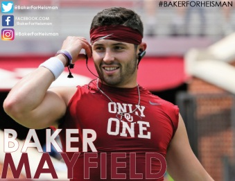 Baker Mayfield design, designed by Aliyah Funschelle