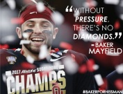 Baker Mayfield quote design, designed by Aliyah Funschelle