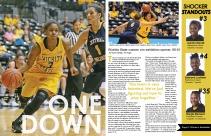 sports magazine design, designed by Aliyah Funschelle